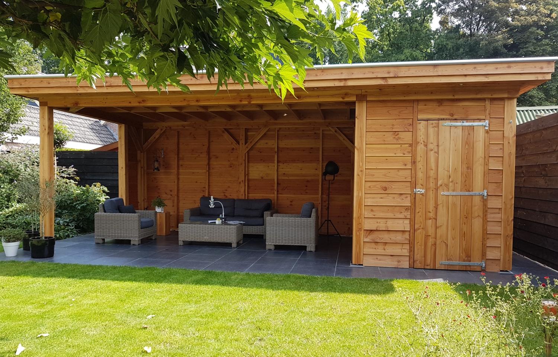 Veranda Met Schuur : Douglas veranda met schuur u houtbaar