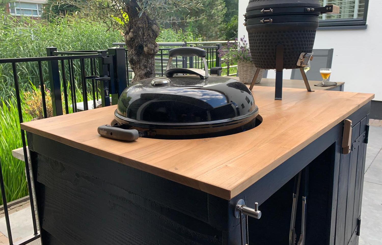BBQ keuken van douglas hout